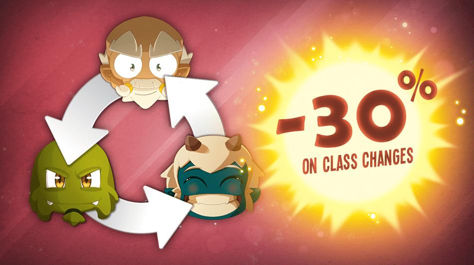 转职道具七折 30% OFF CLASS CHANGES!